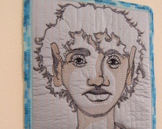 americano faz arte com tecido