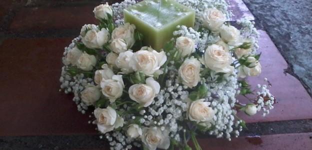 Arranjos florais de velas