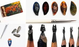 Russo faz arte em ponta de lápis e semente de abobora