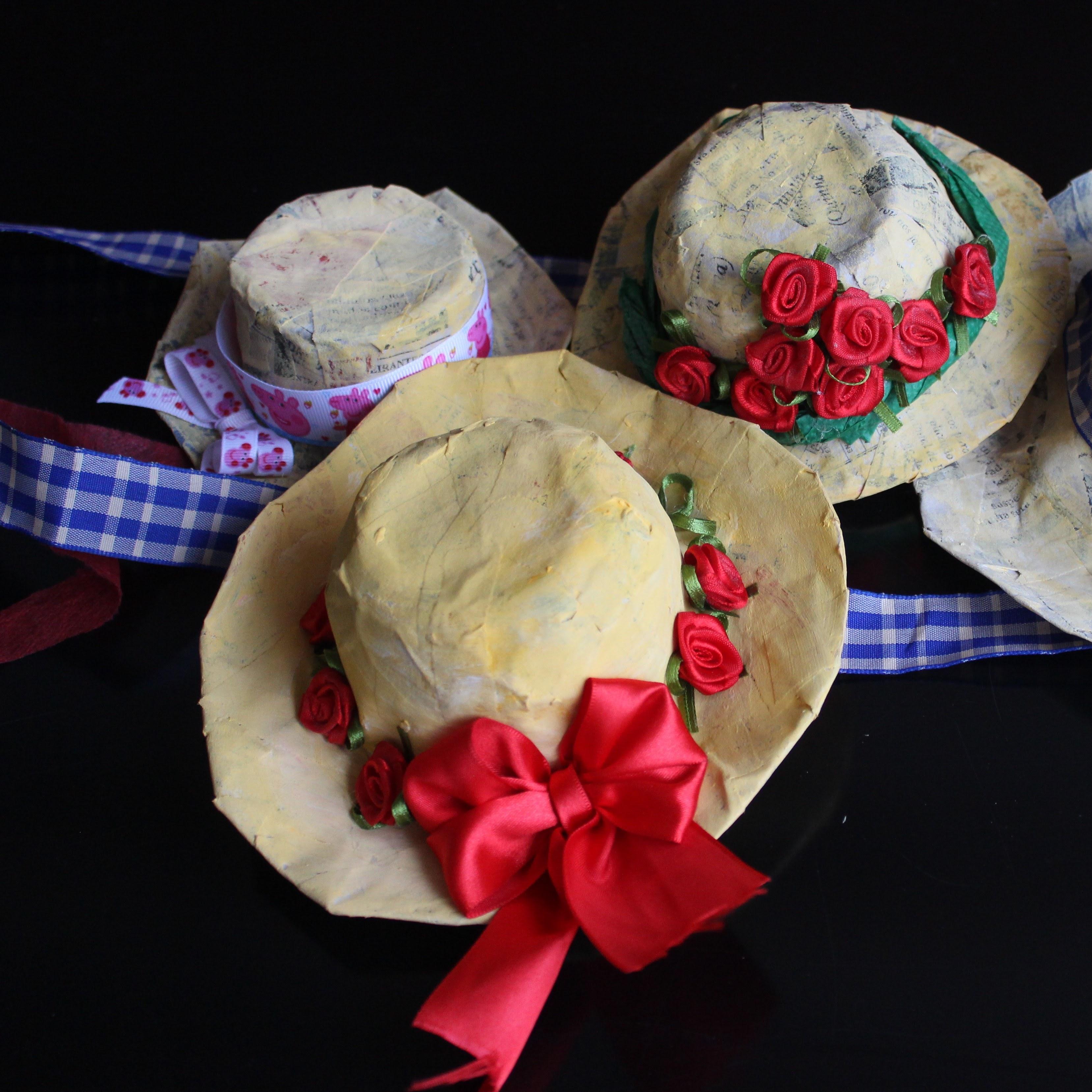 Chapeu de Festa Junina Facil e Barato – #festajuninaDIY