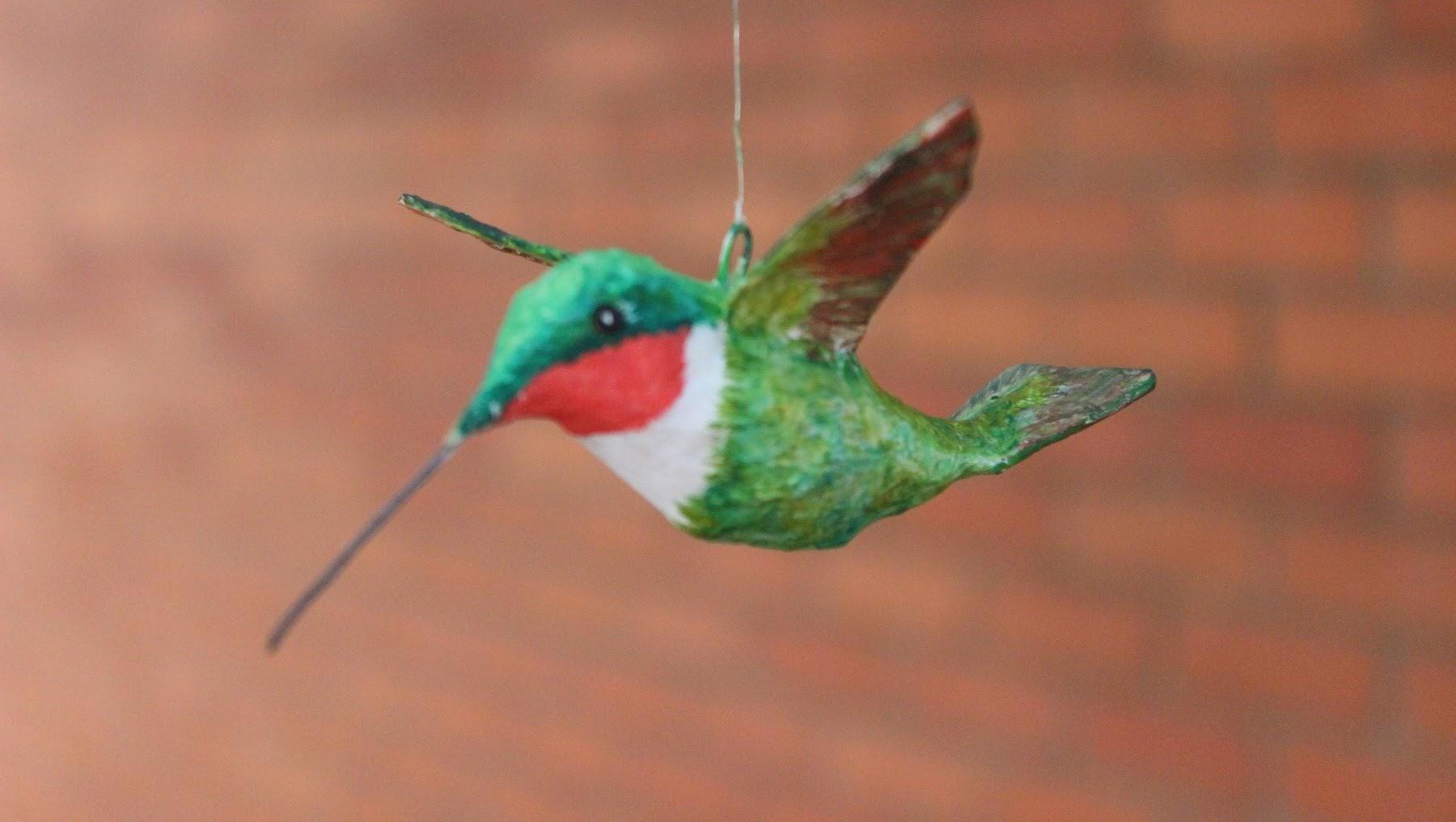 Aprenda a fazer o Beija-flor de papietagem – aula ao vivo