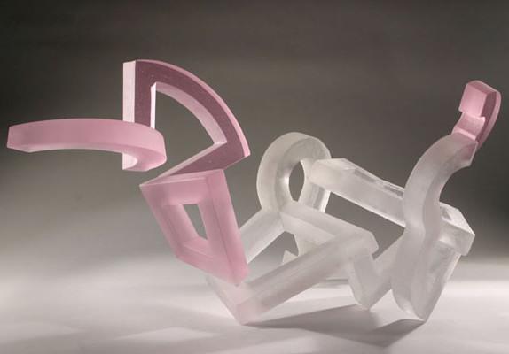 arte estranha com vidro
